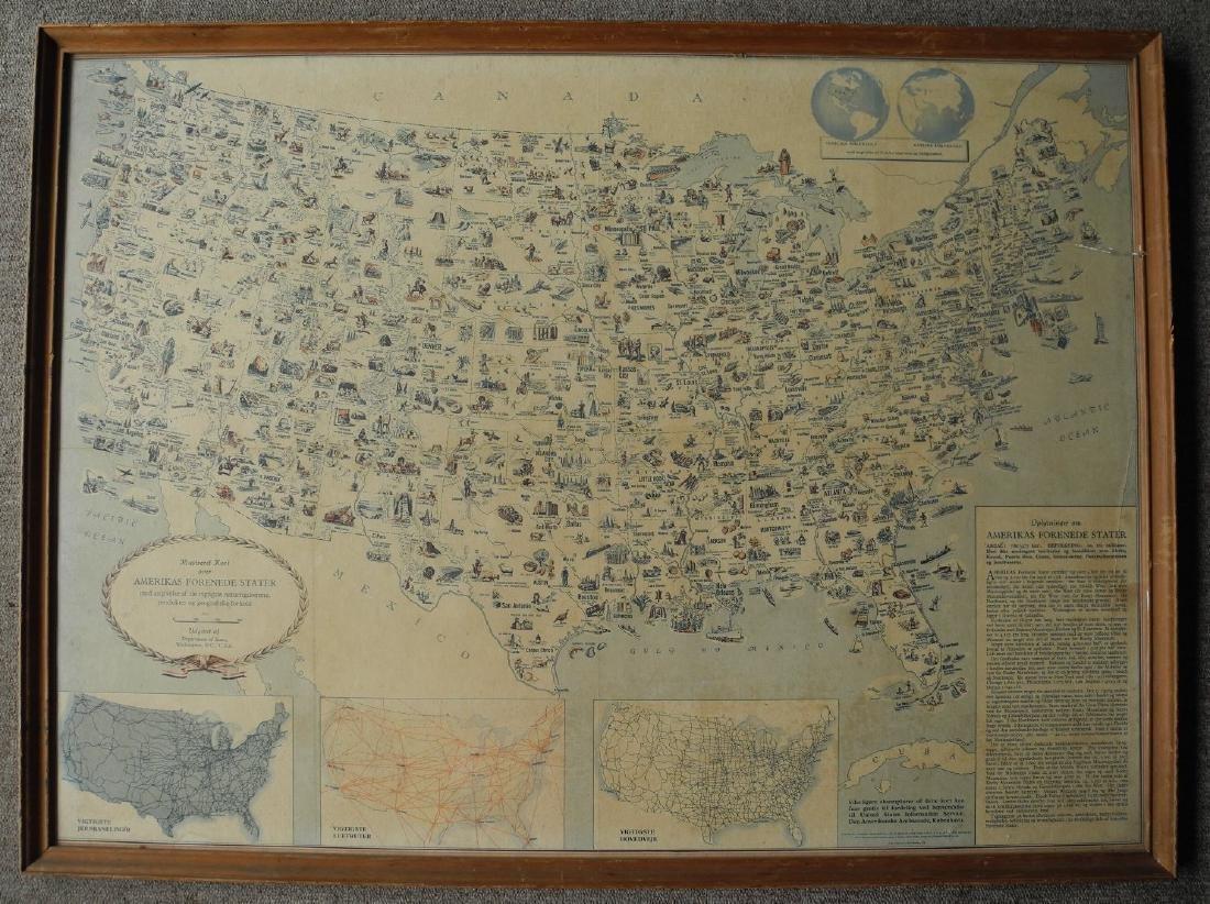 Illustreret Kort Over Amerikas Forenede Stater