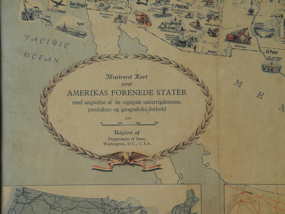 Illustreret Kort Over Amerikas Forenede Stater - 2