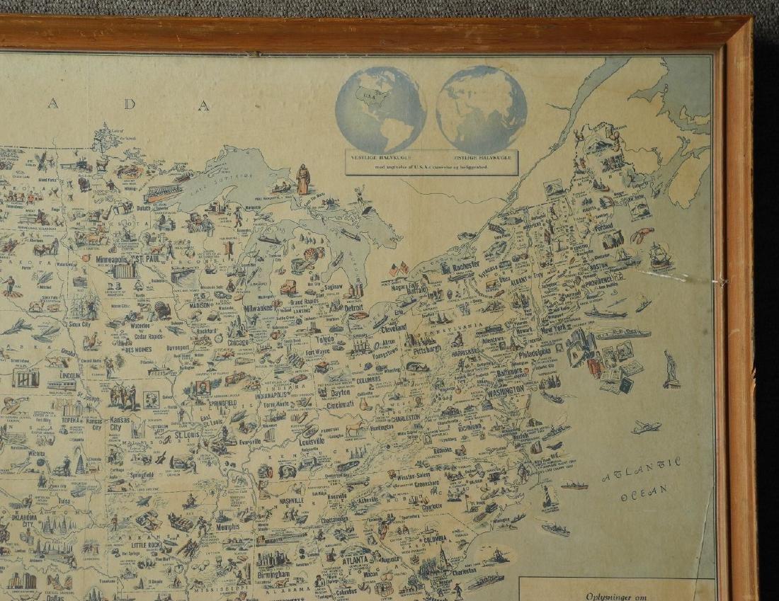 Illustreret Kort Over Amerikas Forenede Stater - 4