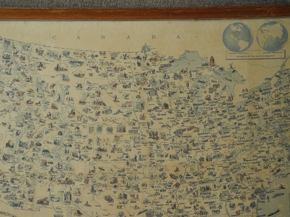 Illustreret Kort Over Amerikas Forenede Stater - 5