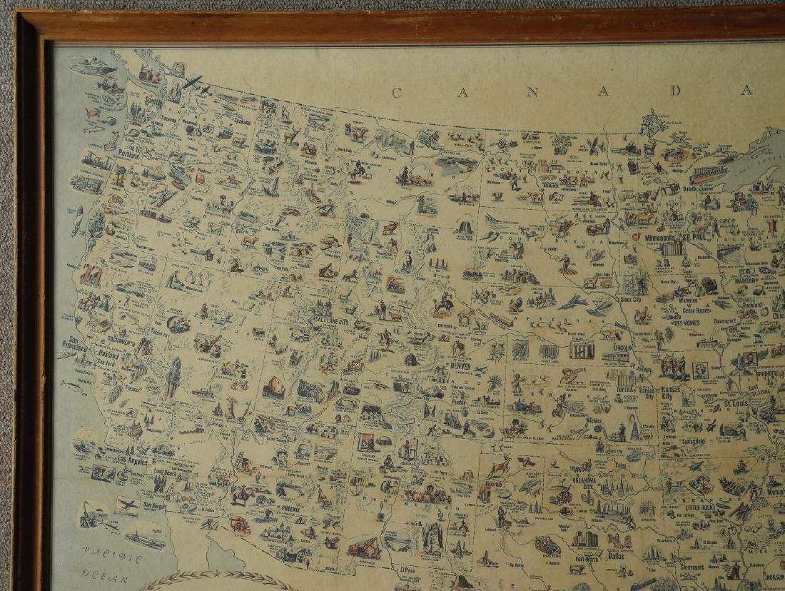 Illustreret Kort Over Amerikas Forenede Stater - 6