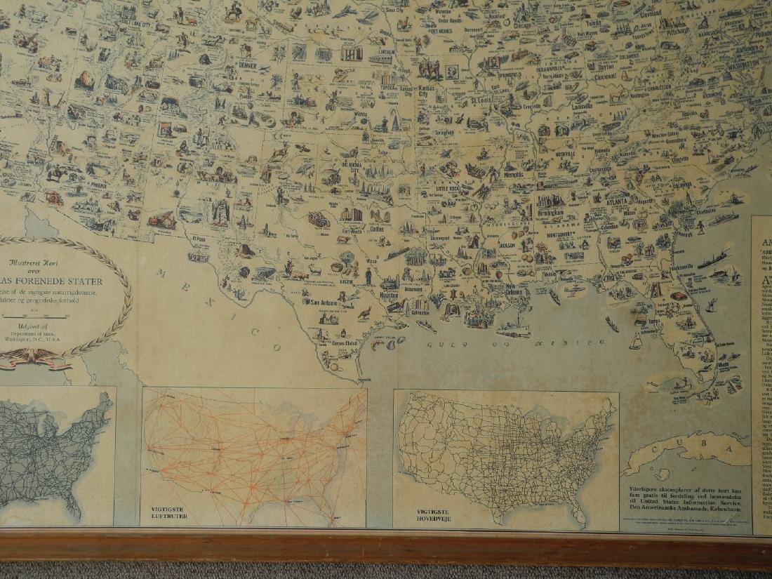Illustreret Kort Over Amerikas Forenede Stater - 8