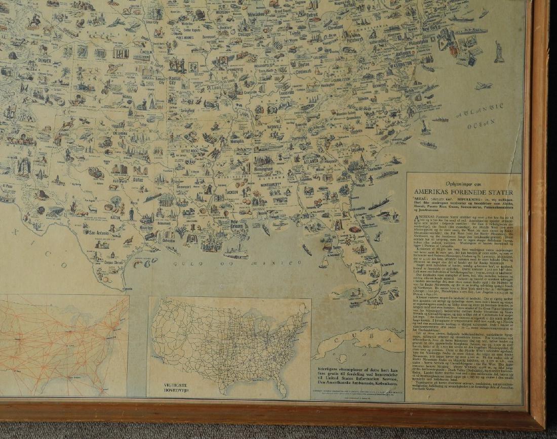 Illustreret Kort Over Amerikas Forenede Stater - 9