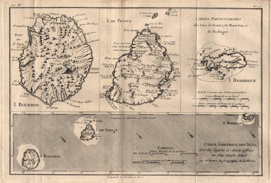 """""""Cartes Particulieres des Isles de France"""" Réunion"""