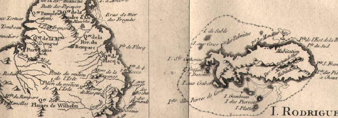 """""""Cartes Particulieres des Isles de France"""" Réunion - 2"""