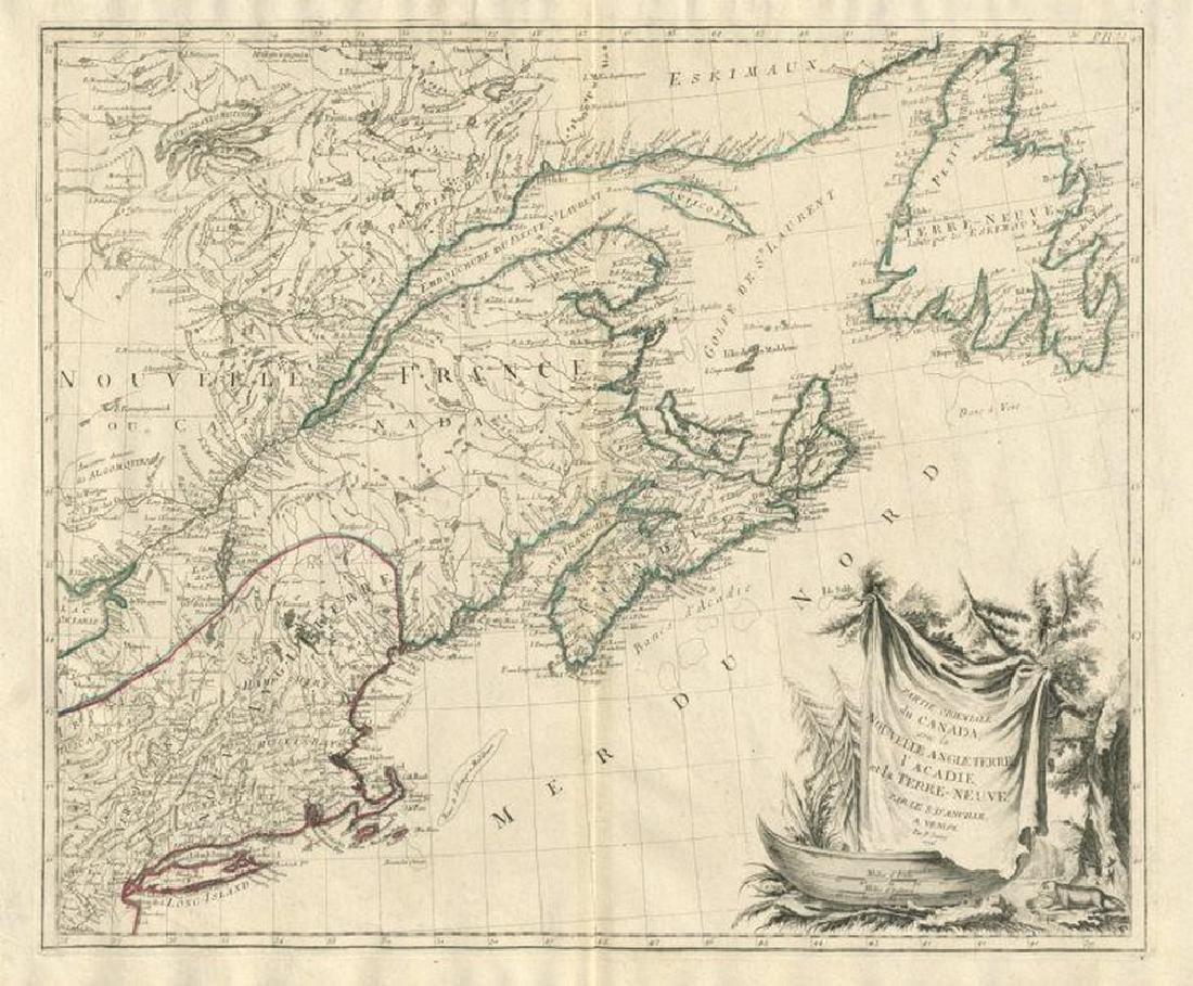 """Partie Orientale du Canada"" New England & Maritimes"
