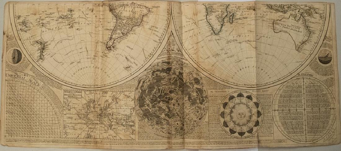 1787 Dunn Map of the World on Two Hemispheres and - 2