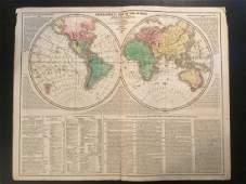 1820 world map by Lavoisne. Published by Carey and Son