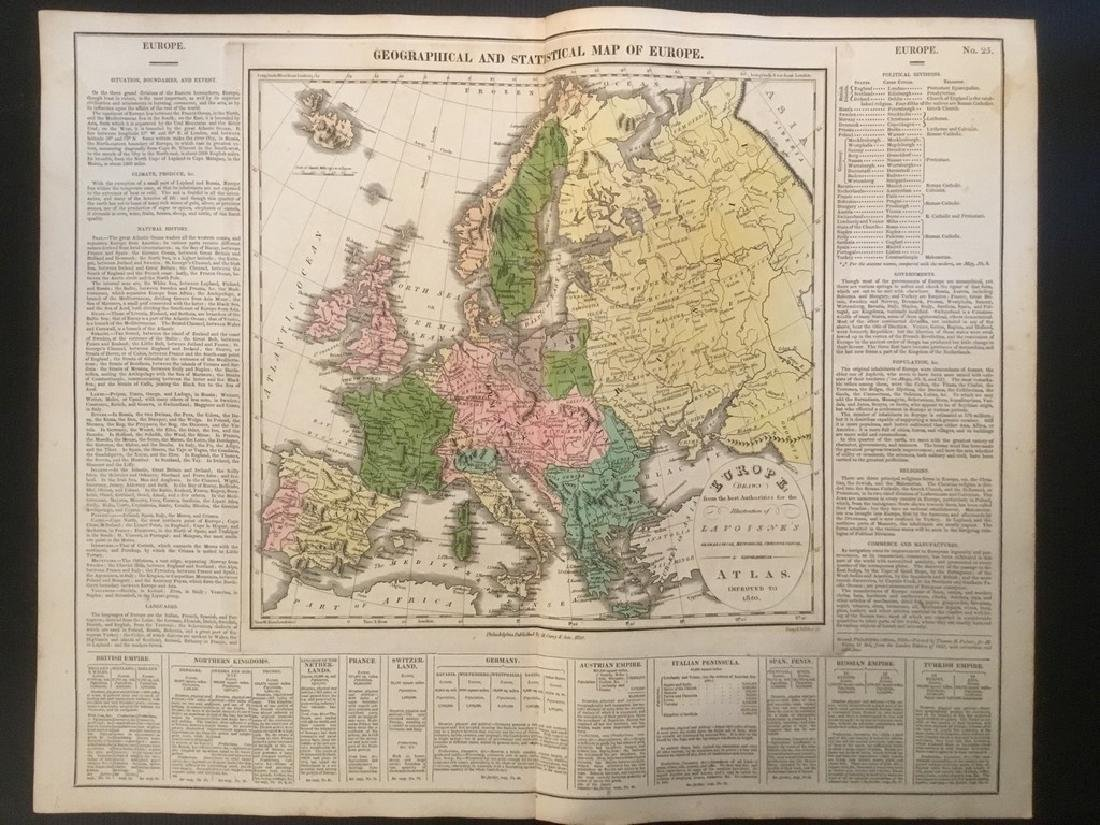 1820 Europe by Lavoisne. Published by Carey & Son in