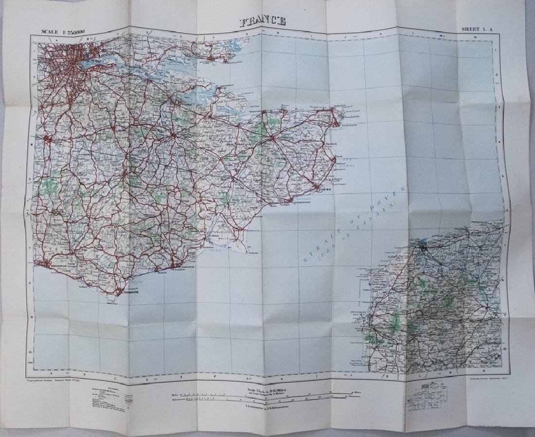 1917 British Military Map of Northwest Europe -- North