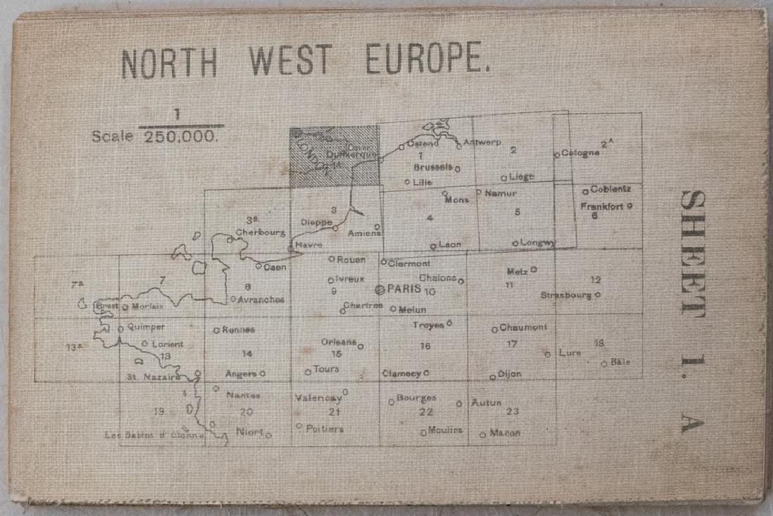 1917 British Military Map of Northwest Europe -- North - 2