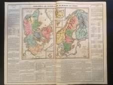 1820 Denmark, Finland, Norway & Sweden by Lavoisne.