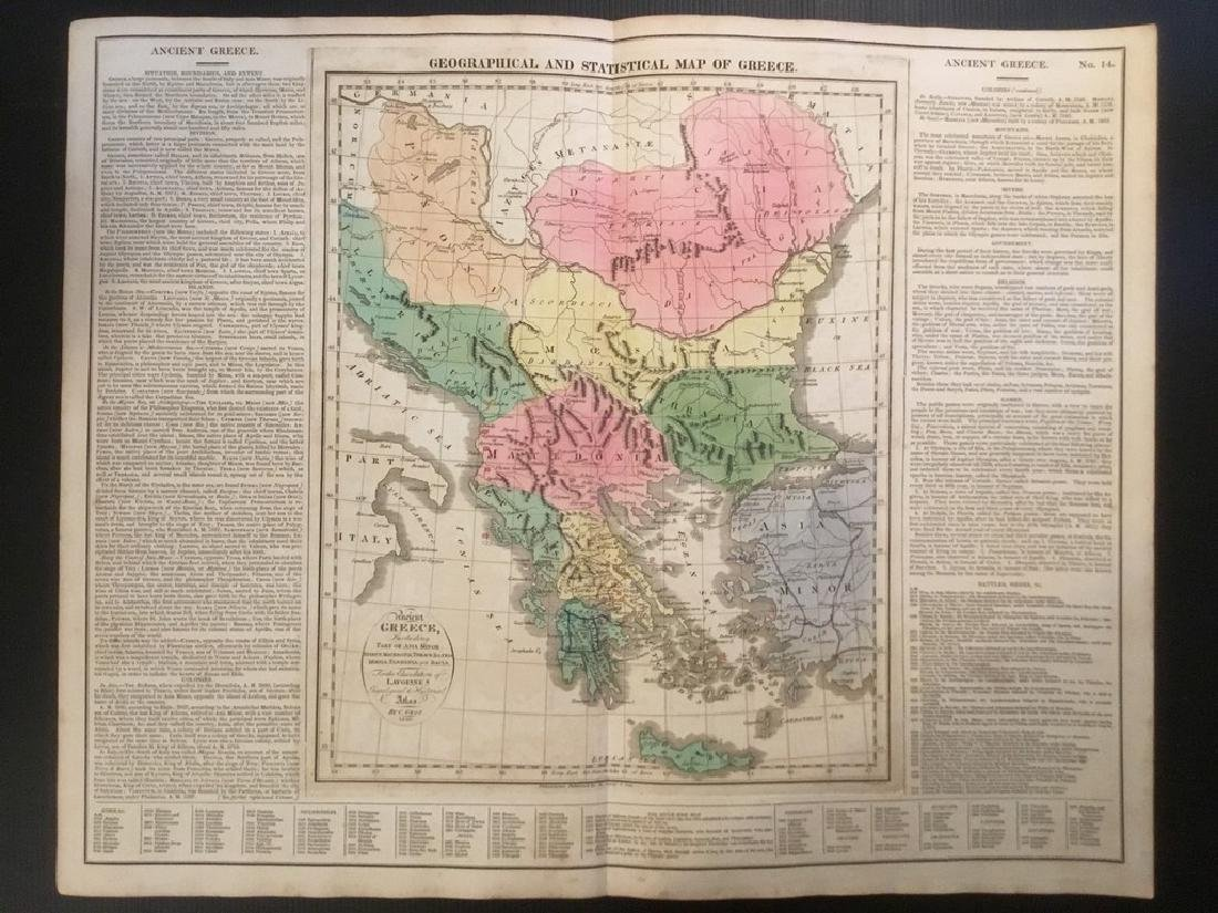1820 Greece & Balkan's by Lavoisne. Published by Carey