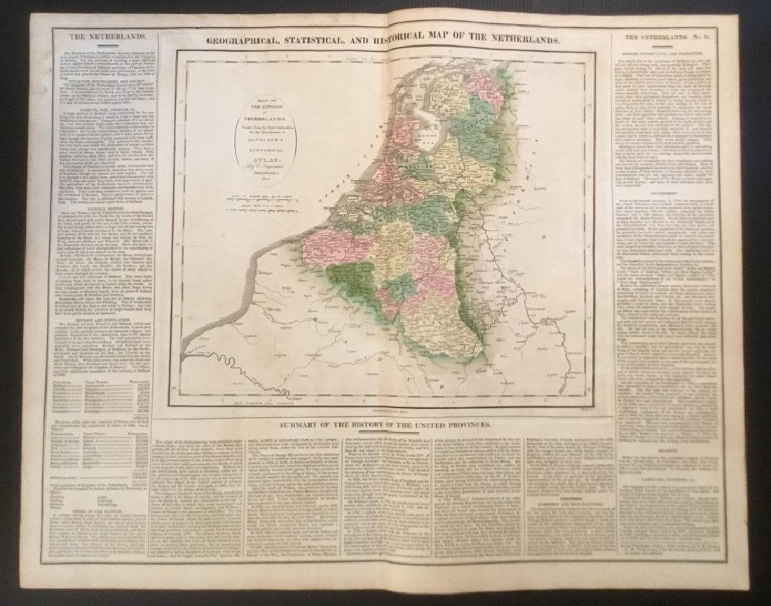 1820. Netherlands (with Belgium) by Lavoisne. Published