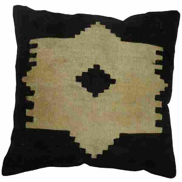 Turkish Mohair Rug Pillow 1.7x1.7
