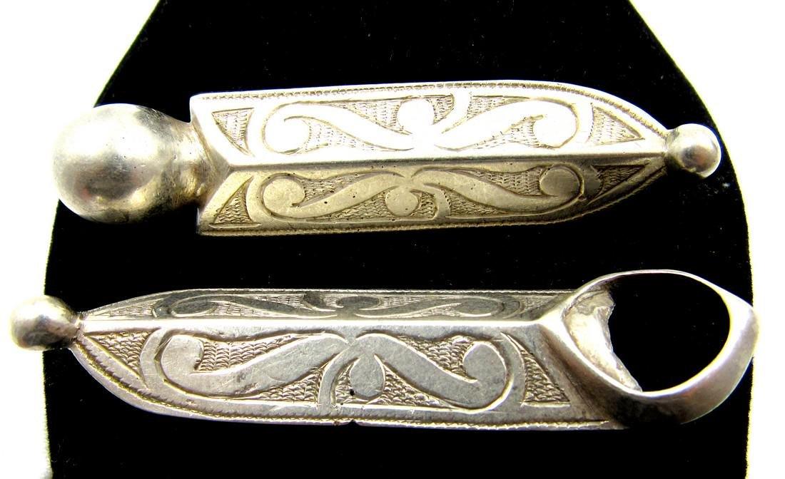 Pair of Medieval Viking Era Silver Belt Buckles