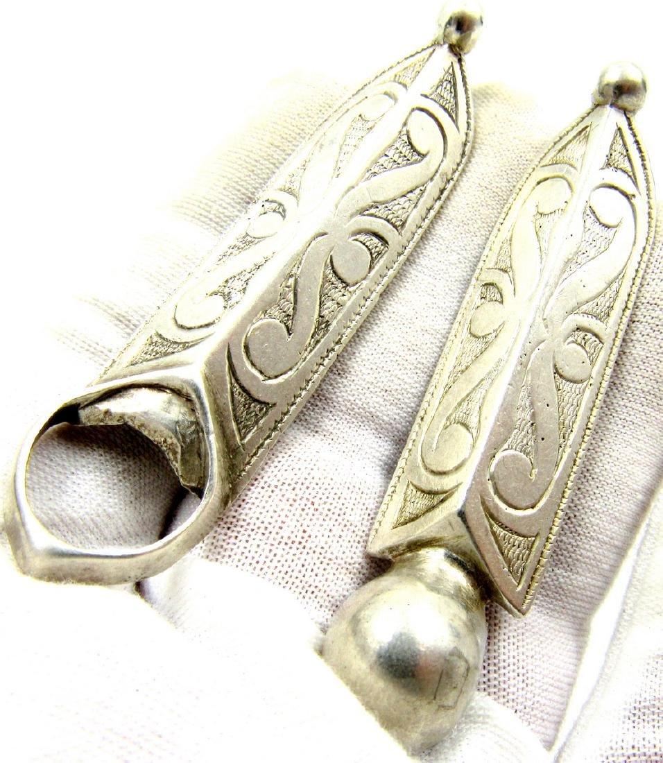 Pair of Medieval Viking Era Silver Belt Buckles - 3