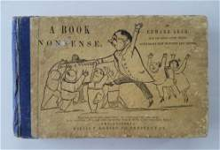 Edward Lear First American edition Book of Nonsense