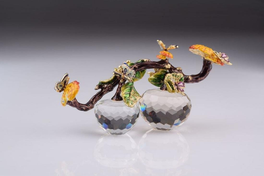 After Fabergé: Butterflies on Branch