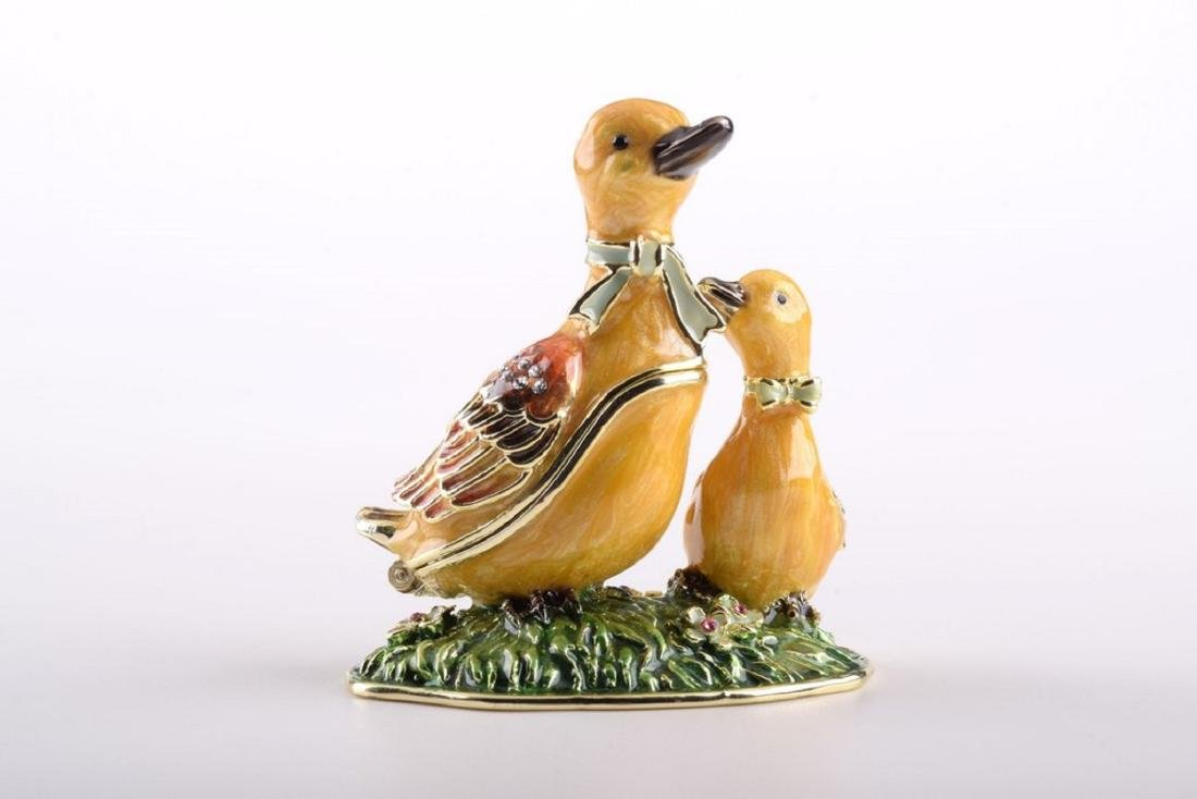 After Fabergé: Mother & Baby Duck Trinketbox