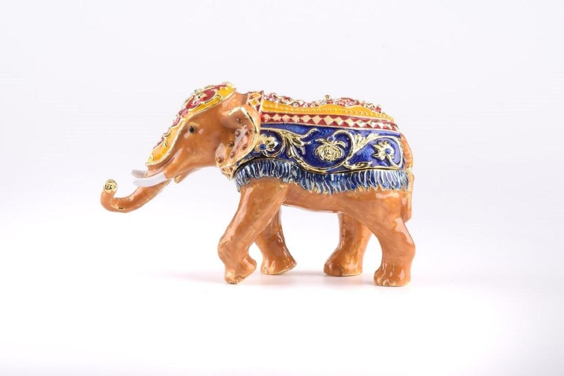 After Fabergé: Brown Deluxe Elephant Trinketbox