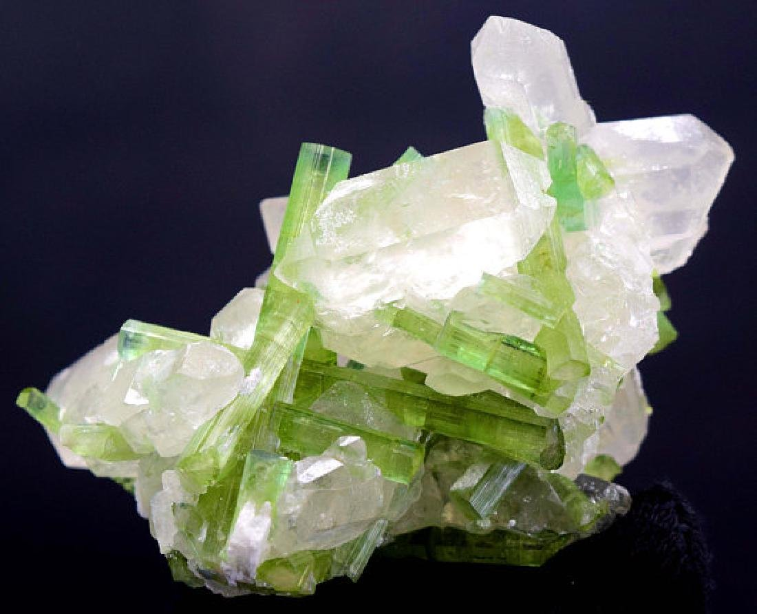 87 Gram Natural Tourmaline Crystals on Undamaged Quartz - 3