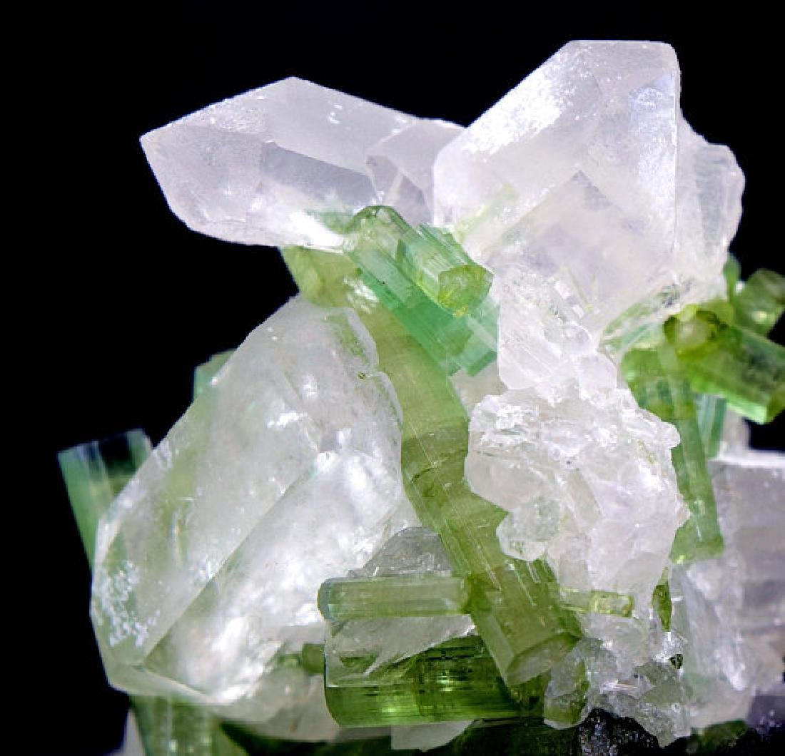 87 Gram Natural Tourmaline Crystals on Undamaged Quartz - 7