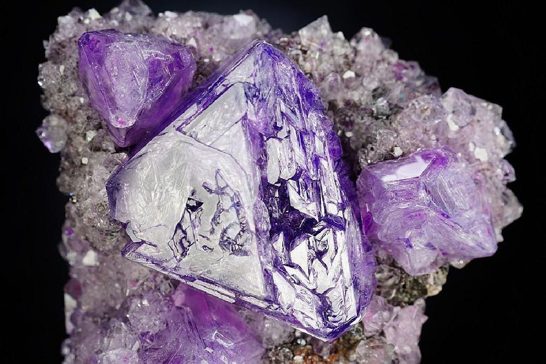 Large impressive Purple Alunite big octahedron crystals - 10