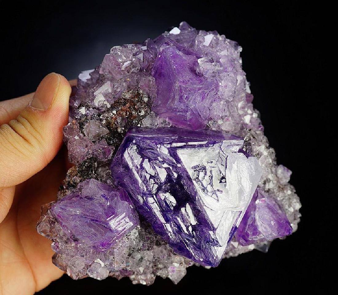 Large impressive Purple Alunite big octahedron crystals