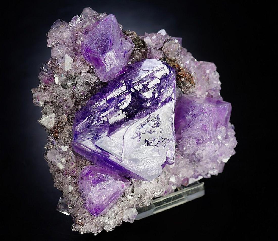 Large impressive Purple Alunite big octahedron crystals - 7