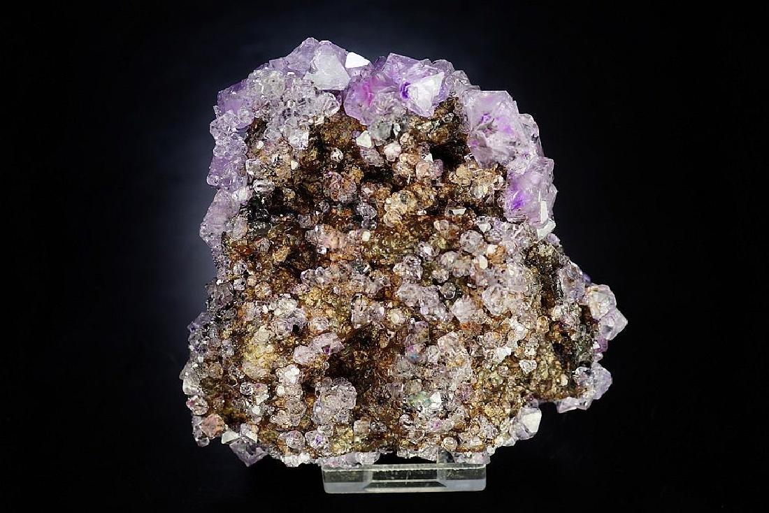 Large impressive Purple Alunite big octahedron crystals - 9