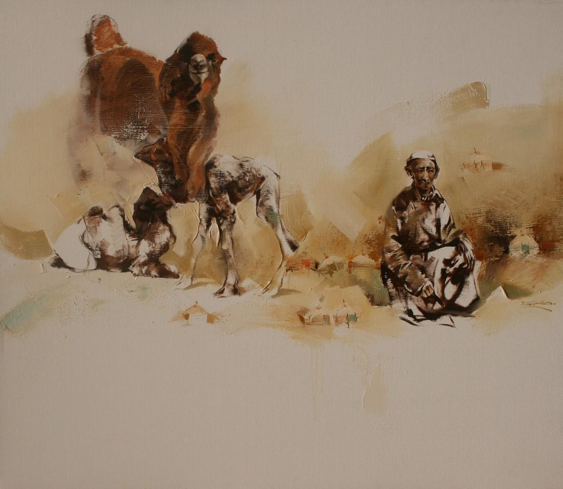 Javkhaa Painting Great Peacefulness of Mongolia