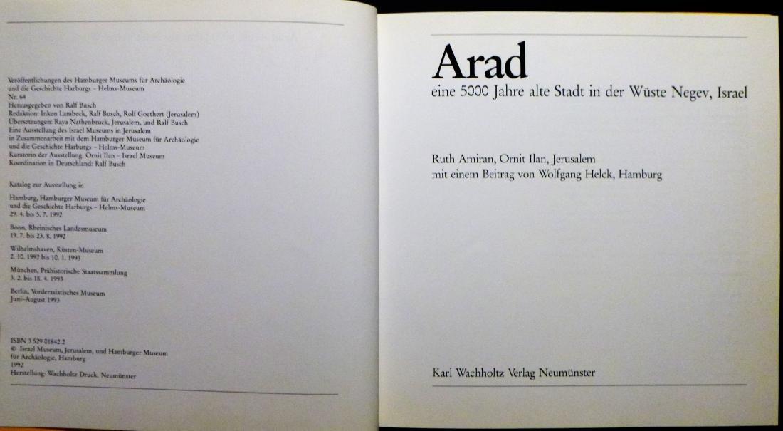 ARAD. 5000 Jahre in der Negev, Israel Signed 1st - 2
