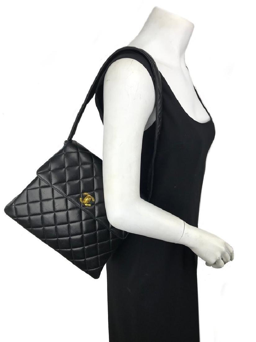 Chanel Vintage Quilted Leather Side Flaps Shoulder Bag - 12