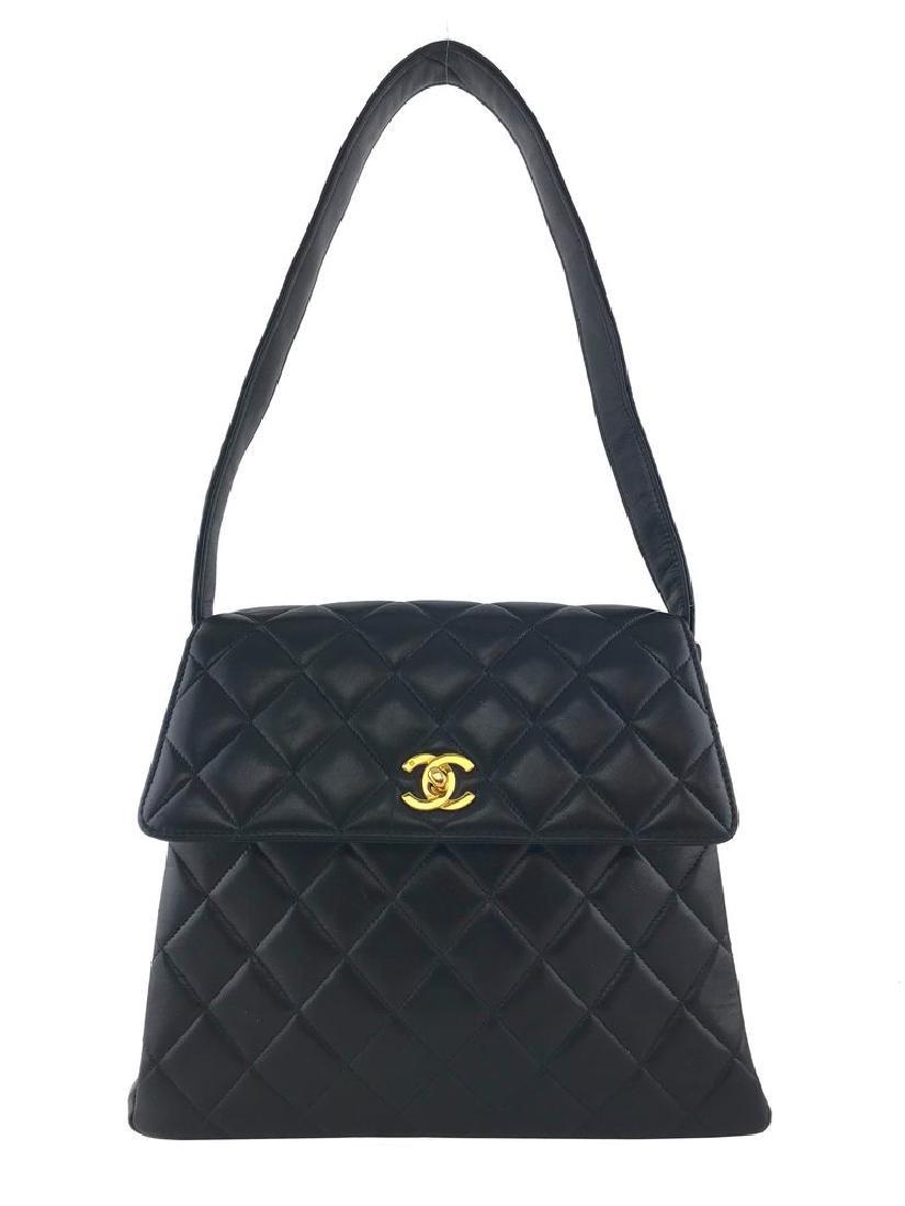 Chanel Vintage Quilted Leather Side Flaps Shoulder Bag