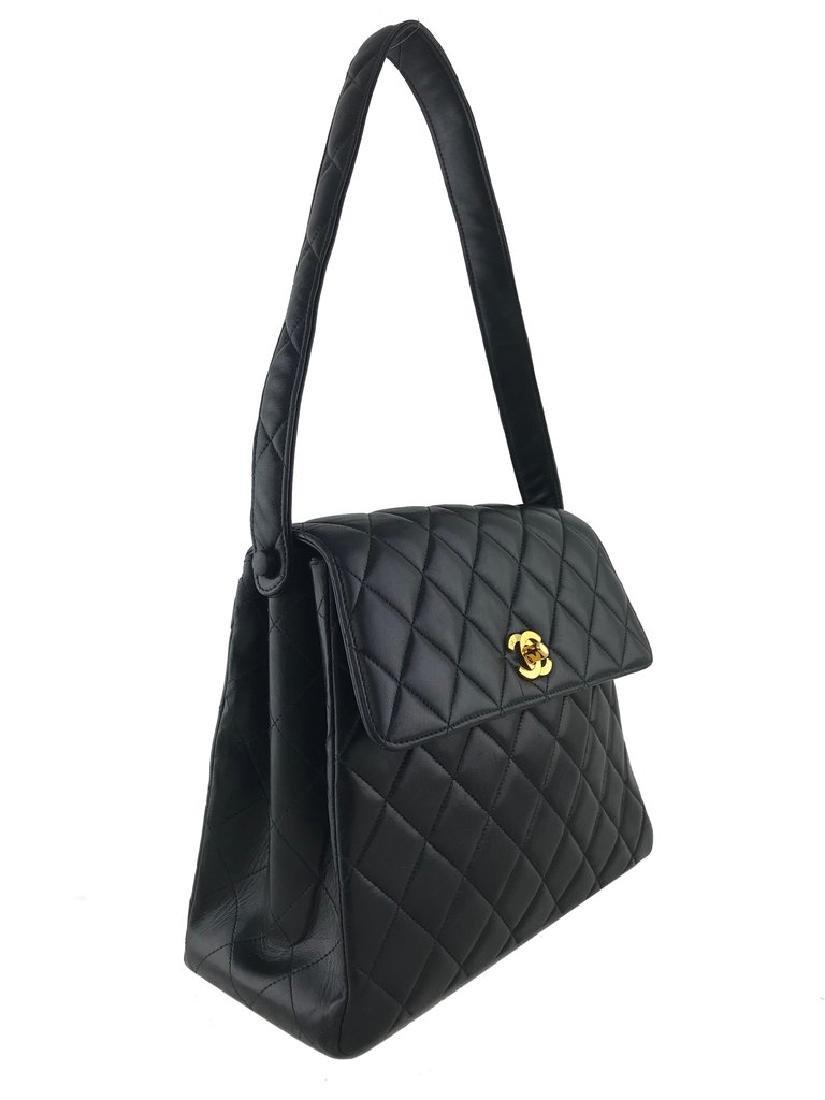Chanel Vintage Quilted Leather Side Flaps Shoulder Bag - 3
