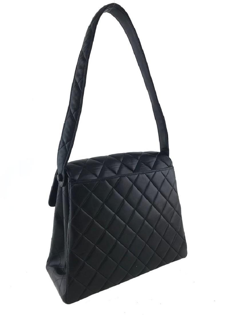 Chanel Vintage Quilted Leather Side Flaps Shoulder Bag - 4