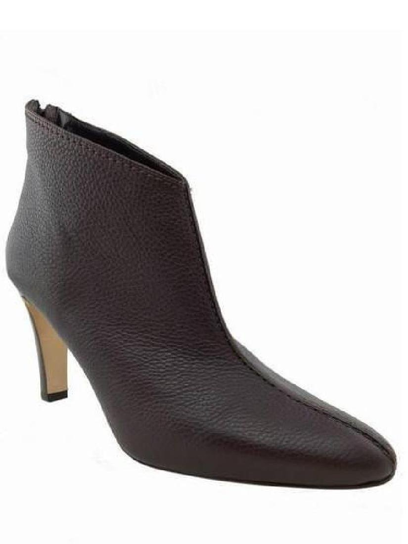 Manolo Blahnik Texured Leather Ankle Booties Size 9
