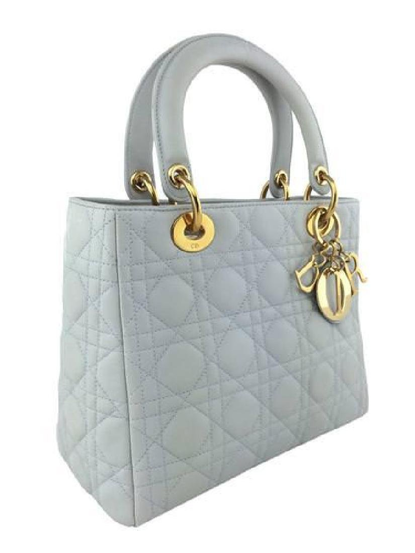 Christian Dior Cannage Quilt Leather Lady Satchel Bag - 3