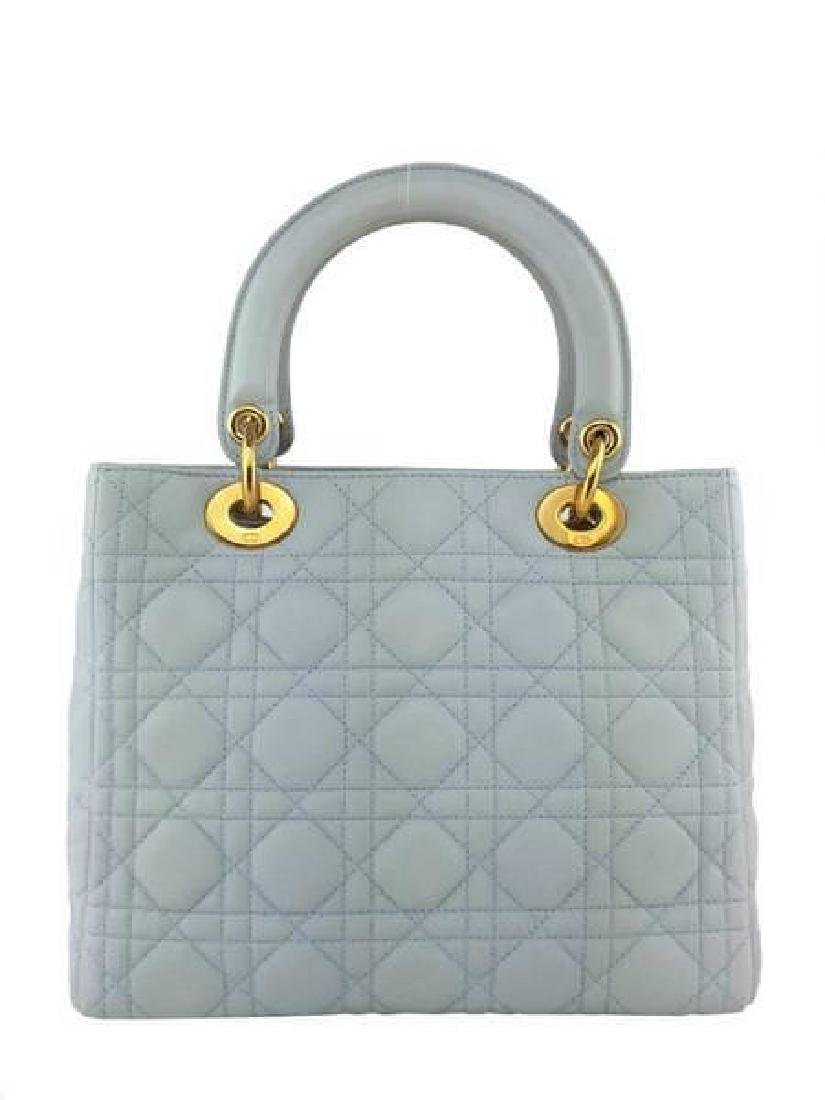Christian Dior Cannage Quilt Leather Lady Satchel Bag - 4
