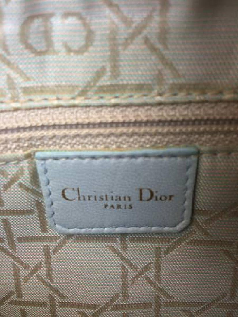 Christian Dior Cannage Quilt Leather Lady Satchel Bag - 7
