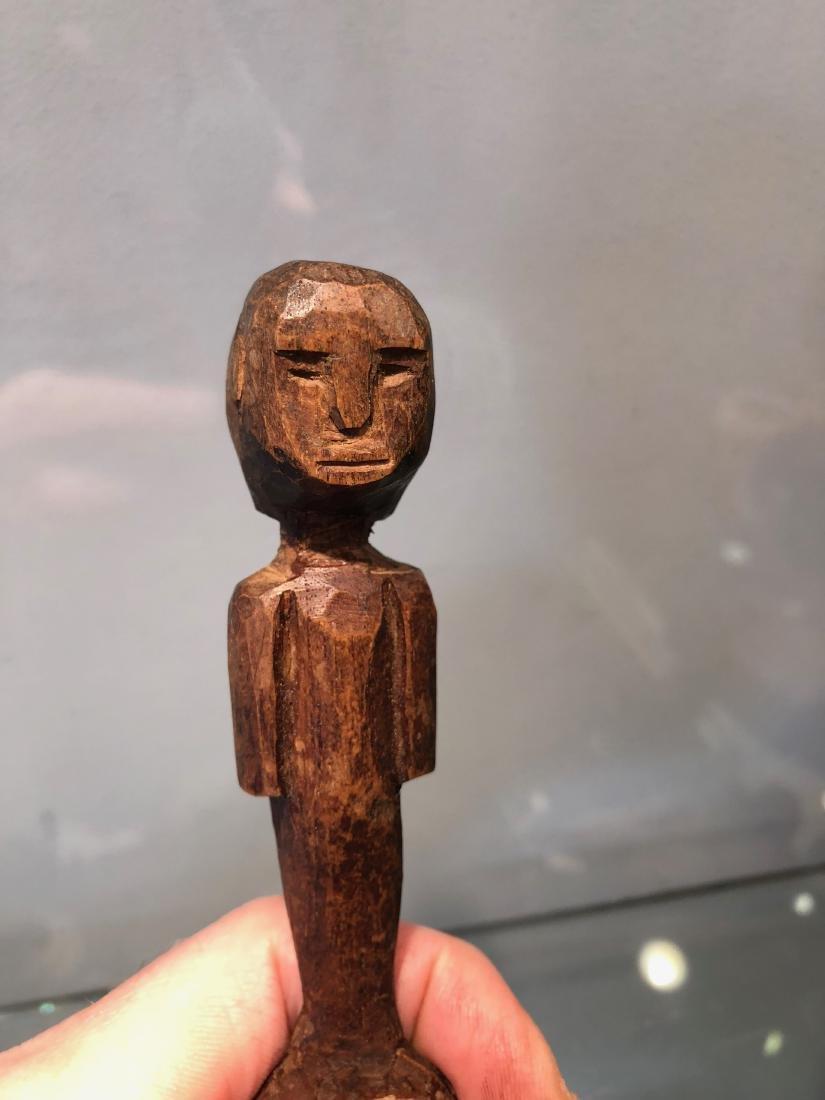 Small Ritual Zaramo Fertility Spoon Carved in Wood - 6