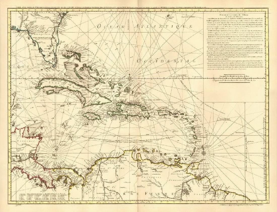 Carte d'une partie de l'Amerique pour la navigation'
