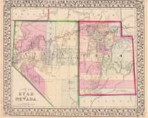 Mitchell: County Map of Utah & Nevada
