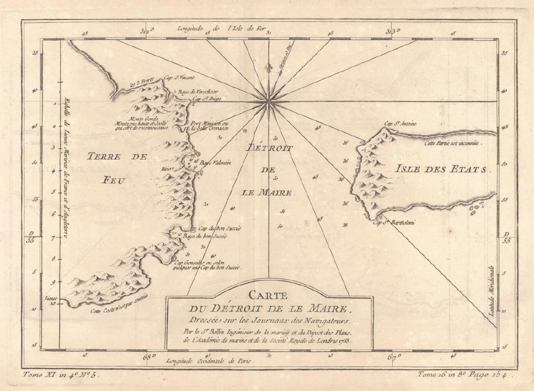 Carte Du Detroit De Le Maire,