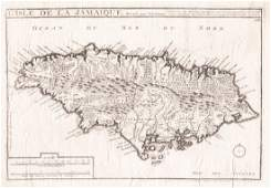 de FerPierre Mortier Parish Map of Jamaica