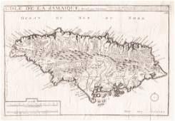 de Fer/Pierre Mortier: Parish Map of Jamaica