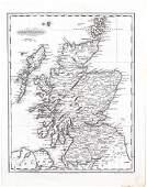 1834 Malte-Brun Map of Scotland -- Scotland