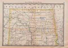 1883 Hardesty Map of Northern Dakota -- Map of