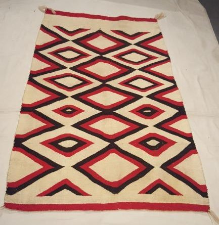Navajo Woven Regional Rug Ca 1920's